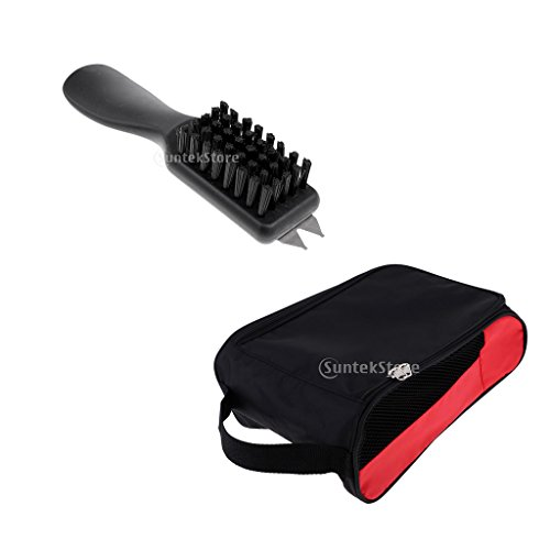 perfeclan Golf Brush Groove Cleaner Schuhe Bürsten \u0026 Schuhe Travel Carrier Bag Pouch