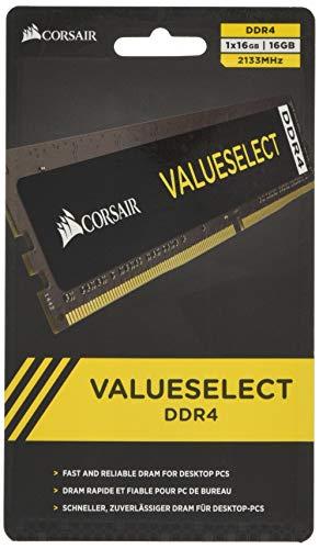 Corsair ValueSelect - Memoria RAM (DDR4, PC/Server, 288-pin DIMM, 1 x 16 GB)