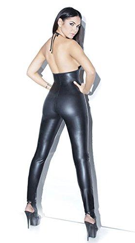 "Catsuit, Wet look wie""Latex"", Gr. 34-36 Ganzkörper Anzug, Damen Frauen schwarz, glänzend, Reißverschluss, Zip hinten, wet look, fetisch, Fasching, Sexspielzeug, Sex"