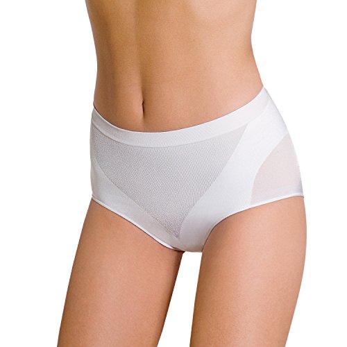 slip donna contenitivo POMPEA modella e contiene senza cuciture (S-M, BIANCO)