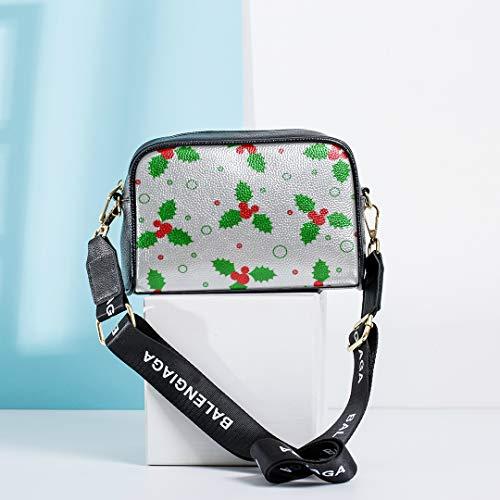 Weihnachten Schöne Holly Berries Fashion Design Tasche Umhängetasche Umhängetasche mit verstellbarem langen Riemen Fashion Design Tasche Mittlere Umhängetasche Frau Umhängetasche Holly Berry Designs