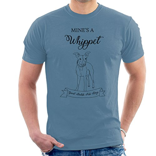 Great British Pub Dogs Mines A Whippet Men's T-Shirt