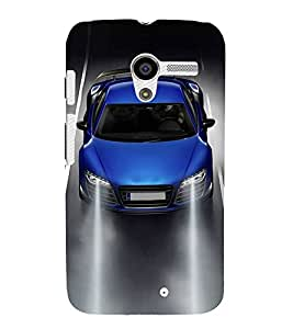 FUSON Royal Blue Sports Car 3D Hard Polycarbonate Designer Back Case Cover for Motorola Moto X :: Motorola Moto X (1st Gen) XT1052 XT1058 XT1053 XT1056 XT1060 XT1055