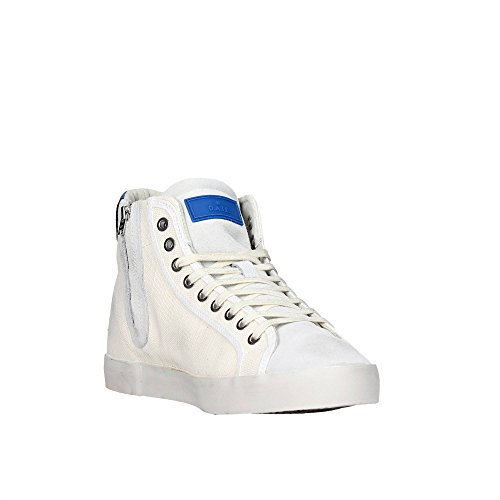 D.A.T.E. sneakers uomo in tela HILL HIGH CANVAS WHITE Bianco
