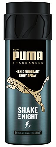 Puma Deodorant Body Spray ohne Aluminiumsalze: Shake The Night, 6er Pack (6 x 150 ml)