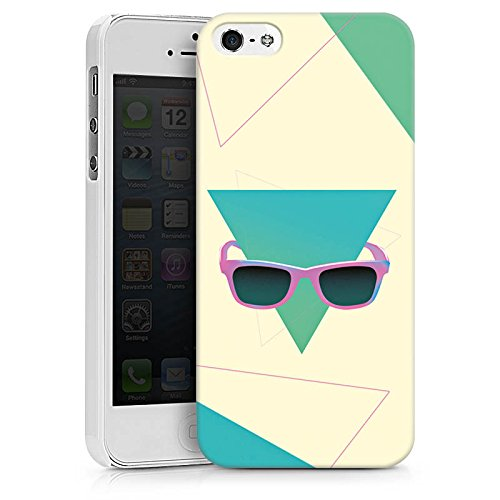 Apple iPhone X Silikon Hülle Case Schutzhülle Hipster Dreieck Sonnenbrille Hard Case weiß