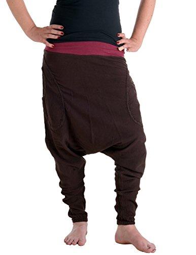 Vishes – Alternative Bekleidung – Lange Stiefel - Haremshose Dunkelbraun