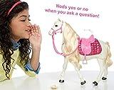 Barbie Cavallo dei Sogni, Cammina, Risponde alle Azioni e al Tocco, Imballaggio Apertura Facile, FTF02