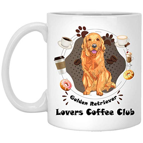 386077fc4fe2a Golden Retriever Dog Lovers coffe Club funny Golden Retriever Dog Mugs  Handmade Funny 11oz Mug Best Birthday Gifts for Men Women (11 ounce)