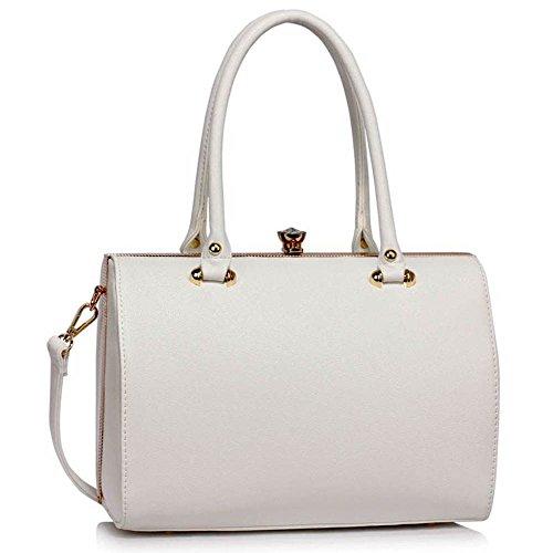 Top Griff Handtaschen Für Frauen (groß, Marine) Mode Designer Taschen Damen Handtaschen Für Groß Und Super Qualität Taschen A - Weiß