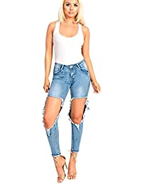 Women's Ladies Stunning Ripped Distressed jeans