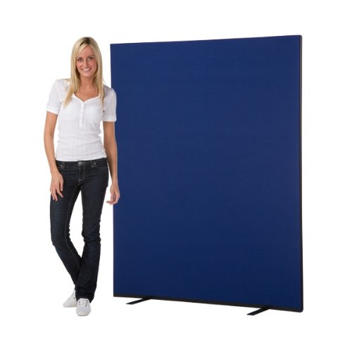 Top Office Screen / Partition 1500mm W x 1800mm H, woolmix fabric Blue Portrait Discount