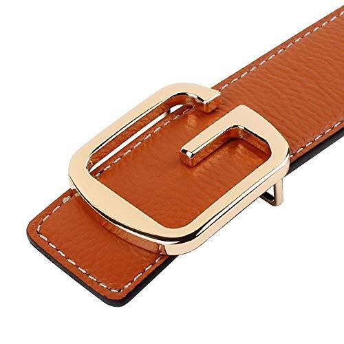 ChenHui Men's Belt Smoothing buckle leather Letter G Korean version wet casual trousers belt buckle men's wide Belt