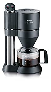 Severin KA 5702 Kaffeeautomat Café Caprice, edelstahl gebürstet / schwarz