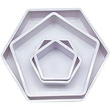 0f8193537b0 Bestonzon Lot de 4 emporte-pièces en forme d hexagone pour décorations de  ballons