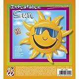 Widmann 2390S - Deko Sonne aufblasbar, circa 60 cm