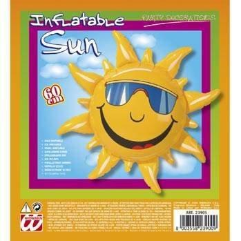 Widmann 2390S - Deko Sonne aufblasbar, circa 60 (Sache 1 Kostüm Kinder)