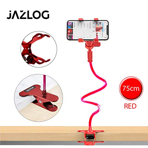 EUDEN Universal Flexible Car/Home Mobile Phone/Mobile Holder Stand for Android Mobiles Red