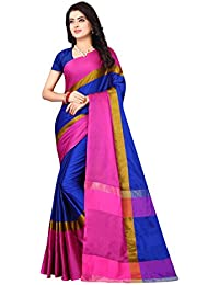 Leriya Fashion Cotton Silk Saree For Women's With Blouse Piece Material