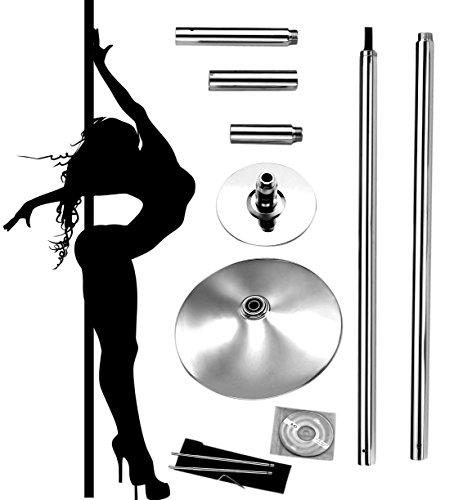 Profi Pole Dance Tanzstange 45mm GoGo Tabledance Static + Spinning (Zuhause Für Stangen Dance)