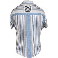 Ironheel Ropa para Perros Universal Camisa del Animal doméstico de la Moda a Rayas de Manga Corta de algodón cómodo Fina Camisa de Lino para Primavera y Verano