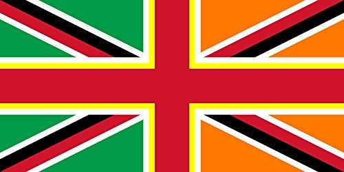magFlags Flagge: Large British Isles Proposal | Proposed Flag of The British Isles Based on The United Kingdom Flag and The Ireland Flag and Adding in The Welsh Patron Saint Flag of Saint David | Pro -