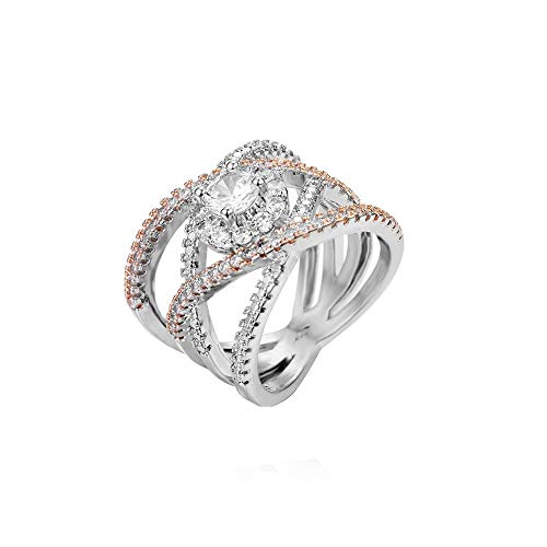 Diadia ❤️ Damen Fashion Diamant zylindrische Cosplay Kostüm Requisite US 8 rose gold