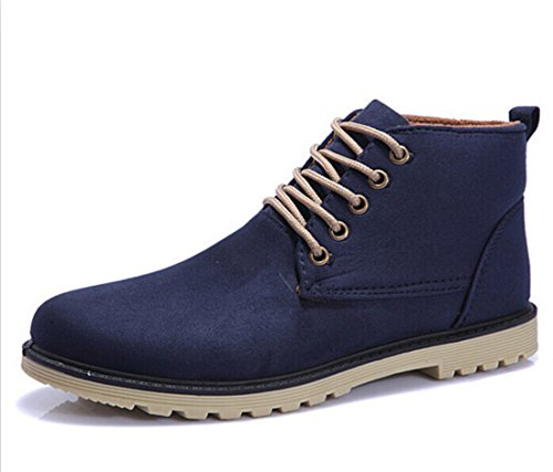 Mens Winter Lace-up Ankle Boots blue