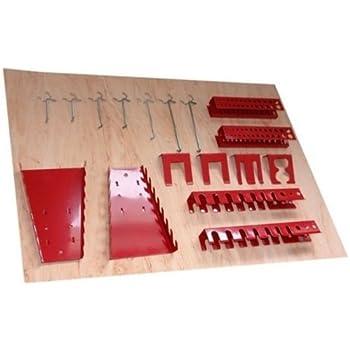 Panneaux muraux de rangement pour outils + crochets - Gris: Amazon.fr: Bricolage