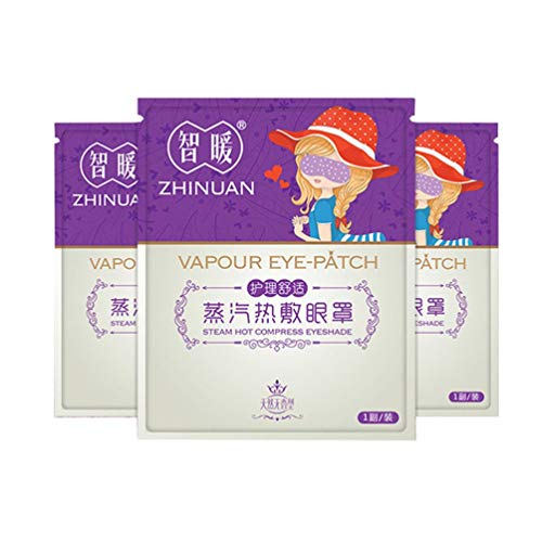 Wenwenzui Healthy Hot Steam Warming Eye Mask for Tired Eyes Relaxed Remove Dark Circles White - Soothing Eye Pads