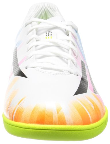 F10 IN Messi - Chaussures de Foot Blanc/Noir/Solar Slime white