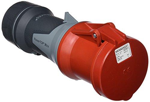 Mennekes (Unternehmen) 101300054prolongadores Power Top Xtra, Steckdosen CEE, 400V, 50-60Hz, 63A, 5-polig, IP 44Grad Schutz, Rot -