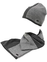 Laura Biagiotti Set Sciarpa e cappello uomo 100% acrilico coordinati 21112  grey 99e3ff480d2c