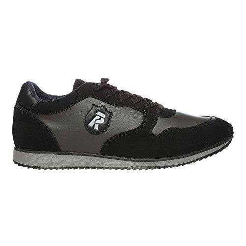 RIFLE Chaussures Homme Baskets, Plates Avec Lacets. mod. 162-M-340-451 Gris Noir