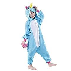 Idea Regalo - LATH.PIN Costumi Carnevale Abbigliamento Halloween Unisex Pigiama Bambini Tuta Pigiama Animali Fumetto Regali di Natale