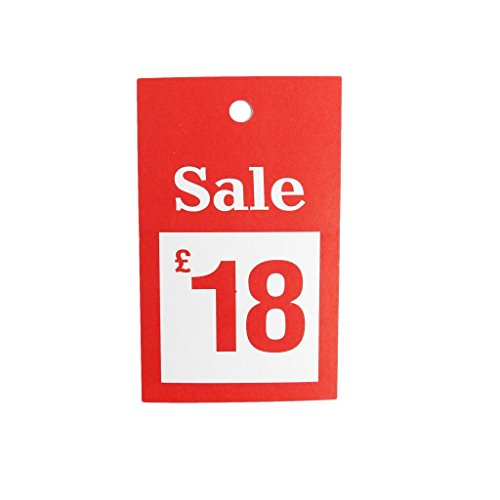 New 100x Verkauf £18Für große Karten reduzierten Preis Tagging Gun Karte Pricing Kleiderbügel Swing Tickets Zahlen Karten