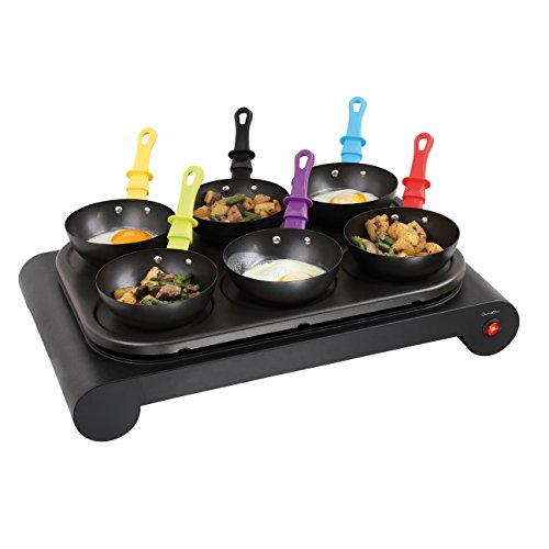 Domoclip DOM200 Crepes Maker Set 6 Mini Crepe Elektrisches Wok-Set