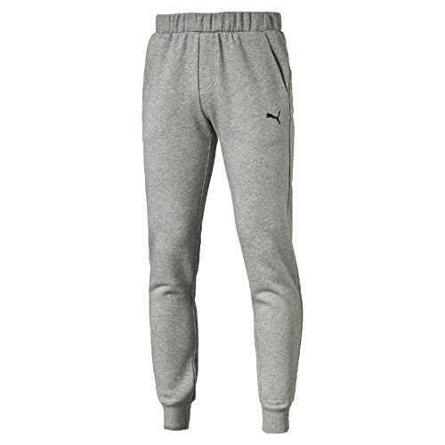 Puma Ess Sweat Slim Fl Pantalone Sportivo, Grigio (Medium Gray Heather), L