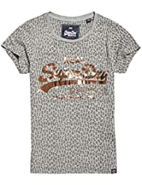 Superdry Damen Pullunder Vintage Logo AOP Burn Out Entr