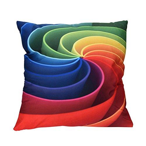 sunnymi Bunt 3D Farbe Kissenbezüge 45X45cm Bett Bettwäsche,Abstraktion Muster Sofakissen,Für Platz auf dem Sofa Café Bibliothek Buchhandlung Party Club (C, Polyester)