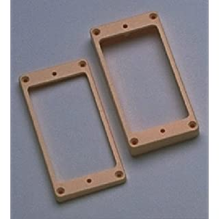 Allparts PC-0733-028 Humbucker frame set for vaulted ceilings cream