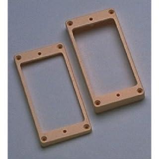 Allparts PC-0733-028 Humbucker Rahmen Set für gewölbte Decken cream