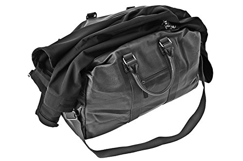Reisetasche, Pilotentasche, XXL, Schultertasche, Umhängetasche, Handtasche allrounder Reisetasche Sporttasche Reisegepäck Tasche Weekender (Camel) Schwarz