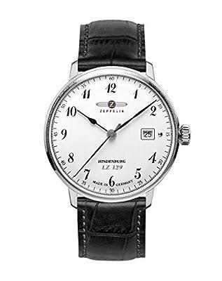 Zeppelin Watches 7046-1 - Reloj analógico de cuarzo para hombre con correa de piel, color negro de Zeppelin Watches