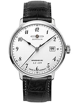 Zeppelin Herren-Armbanduhr XL LZ 129 Hindenburg Analog Quarz Leder 70461