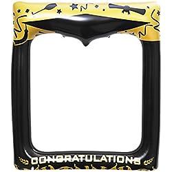 Amosfun Puntelli Foto Graduazione Cornice Gonfiabile Blow Up Photo Booth Puntelli Graduazione Decorazione Accessorio per Festa di Laurea Festa Nuziale 72 x 61 cm