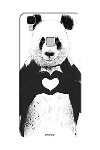 Tecozo Designer Printed Back Cover/Hard Case for Vivo V3 Max (Lovely Panda Design/Quirky)