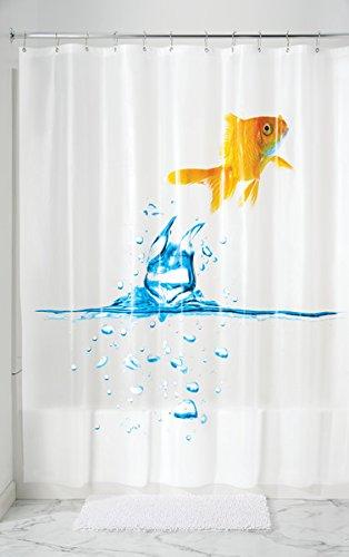 mDesign Duschvorhang Anti-Schimmel - 180 cm x 200 cm - bunter Dusch- & Badewannenvorhang - Duschvorhang wasserabweisend - 12 verstärkte Metallösen