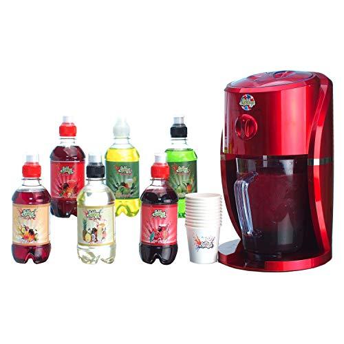 Lickleys - Máquina para hacer granizado con 6diferentes sabores, tazas y pajitas