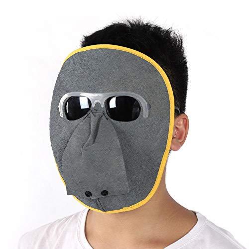 Schweißhelm, Helm Schweißer Kuh Leder Kopf Schweißmaske